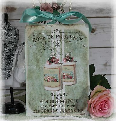 """Rose de Provence"" Slum-like Chic French ~ Country Cottage style ~ Wall Decor Sign"