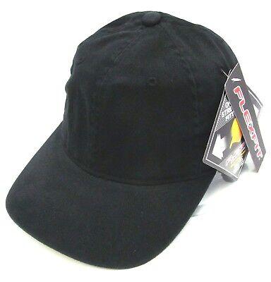 Black Flex Fit Cap Low Profile Unconstructed Dad Hat Curved Visor OSFM NWT Osfm Flex Cap