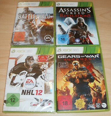 Xbox 360 - Spiele Sammlung USK 16 -18 - Battlefield, NHL 12, Assassins Creed