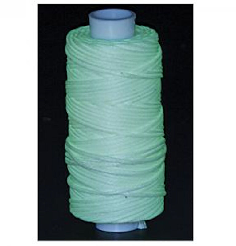 Waxed Braided Cord 25 yds. Glow in the Dark 11210-40 by Tandy Leather