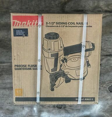 Makita - An611 114 In. To 212 In. Coil 15 Degree Siding Nailer