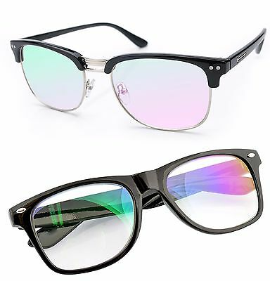 Glasses Clear Lens Anti Glare Computer, gaming TV, Glasses UV Anti Radial (Anti Glare Clear Glasses)