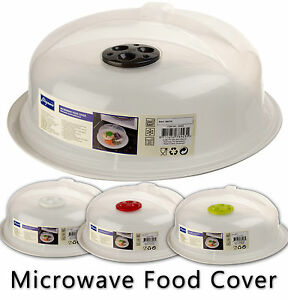 microwave food cover plate vented splatter protector clear. Black Bedroom Furniture Sets. Home Design Ideas