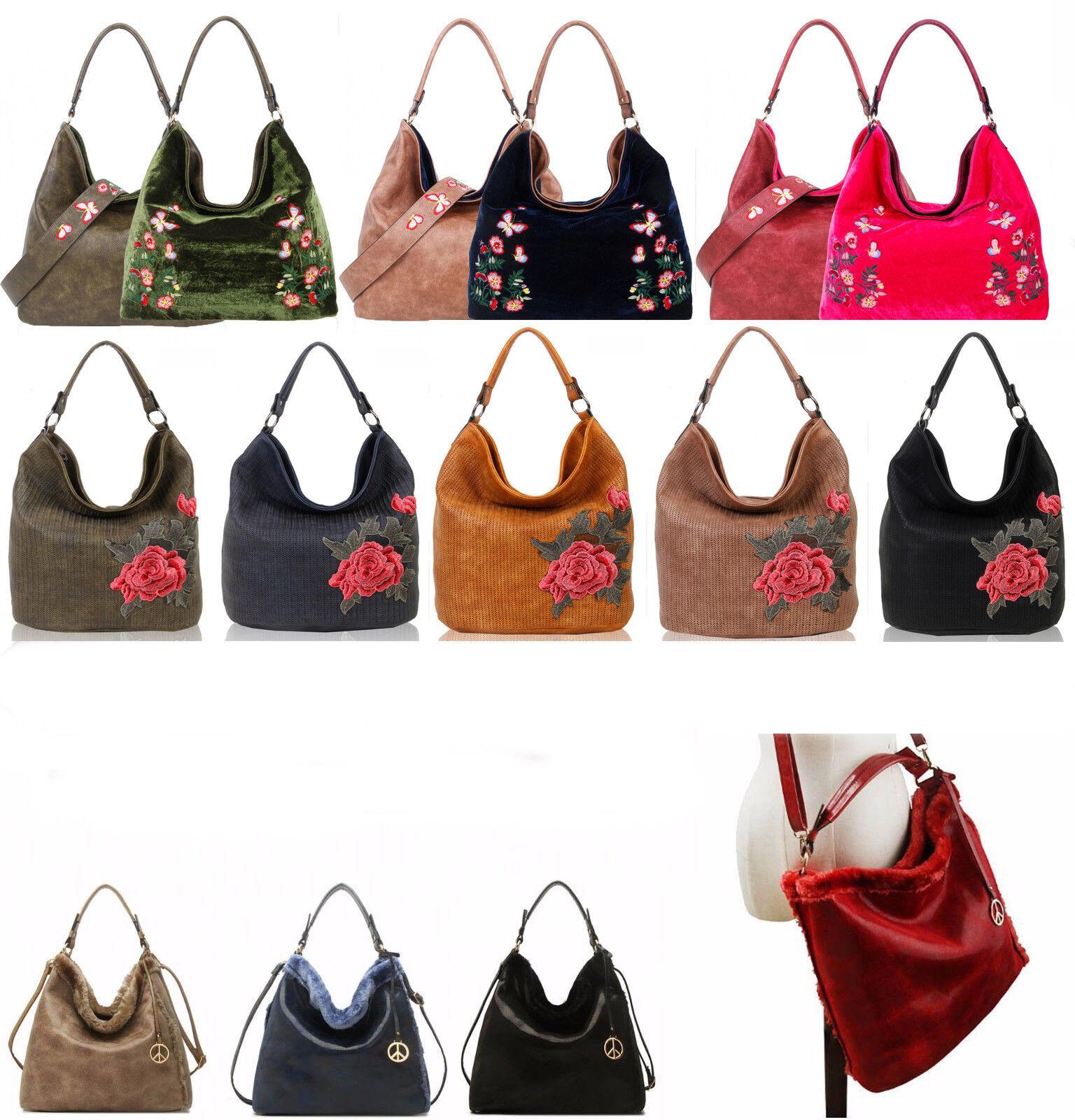LeahWard Women's Faux Leather Large Shoulder Bag Handbags Fo