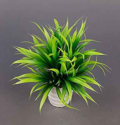 Grasbusch 20cm im weißen Dekotopf LM künstliches Gras Kunstgras Kunstpflanzen