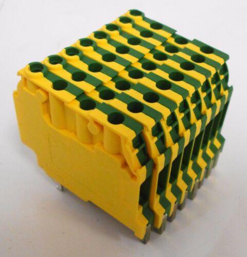 (8) Entrelec 019563712 M4/6-3A-P Terminal Blocks