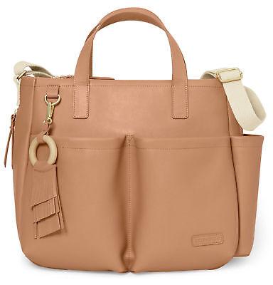 Skip Hop Diaper Bag Greenwich Simply Chic Tote Baby Bag w/ Changing Pad, Caramel segunda mano  Embacar hacia Argentina