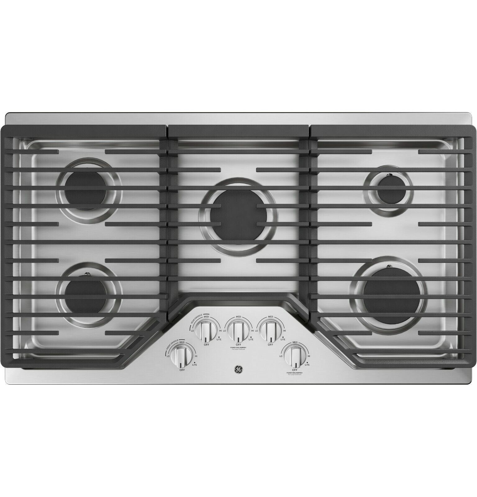 """36"""" Stainless Steel Natural Gas Sealed 5 Burner Top Gas Cook"""