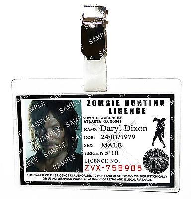The Walking Dead Daryl Dixon ID Badge Zombie Cosplay Prop Costume Comic Con