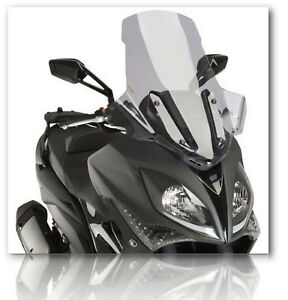 NEW - PUIG Windshield V-Techline Light Smoke - 9864H/ 2017-18 Kymco X-Citing 400