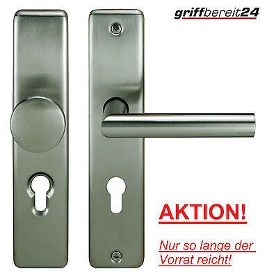 ECO Schutzbeschlag Wechselgarnitur Edelstahl Wohnungstür 72/8mm Sicherheit SK1!!