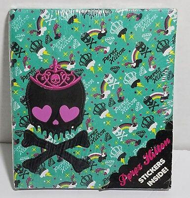 Perez Hilton Journal Skull  Crossbones  Crown  Rainbow With Stickers