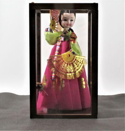 Korean Native Doll in Display Case
