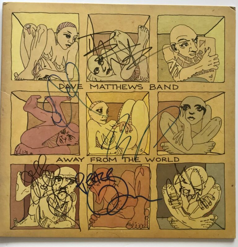 Dave Matthews band dmb signed album away from the world group autographed