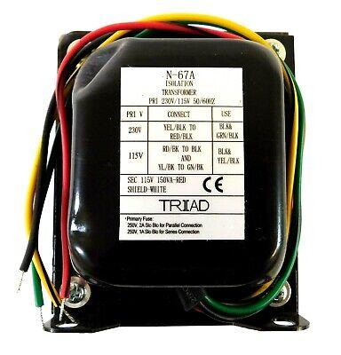 Triad Magnetics N-67a Isolation Power Transformer 115230vac Sec 115vac