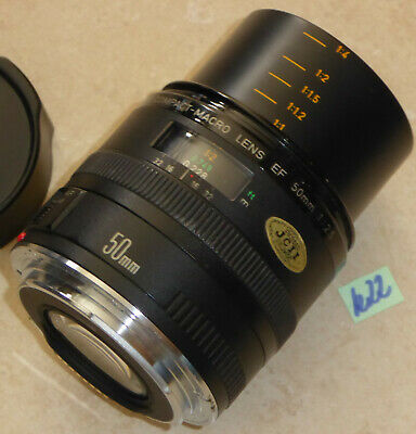 CANON COMPACT-MACRO; EF OBJEKTIV 50mm; 1:2.5; LENS (Canon Compact Macro Lens Ef 50mm 1 2-5)