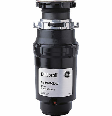 General Electric 1/3 Horsepower Deluxe Continuous Feed Garbage Disposal-GFC320V