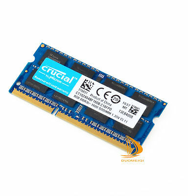 Crucial 8GB 2Rx8 PC3L-12800S DDR3L-1600MHz SODIMM Laptop-Speicher RAM 204Pin ~~
