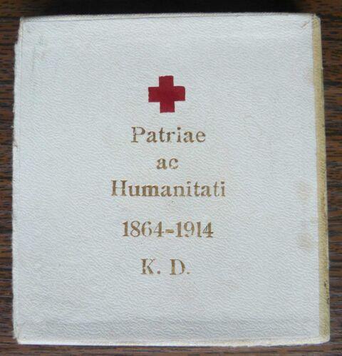 Austrian WWI Red Cross Bronze Enamel Ladies