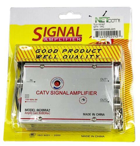 SIGNAL AMPLIFIER 30DB/UHF/VHF/FM Signal Amplifier