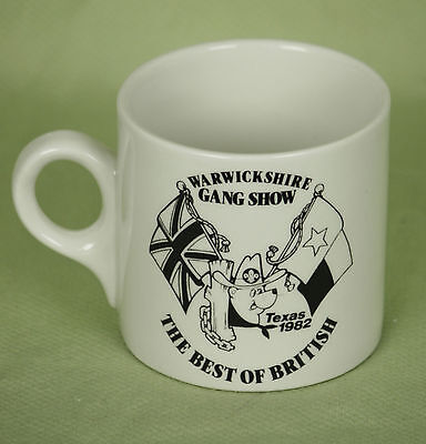 Vintage Warwickshire Gang Show Coffee Cup Mug Texas 1982 Best of British 8 Oz