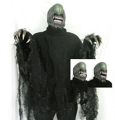 Deluxe Alien Kreatur Beweglicher Mund Verfaulendes Hemd Handschuhe - Deluxe Alien Kostüm