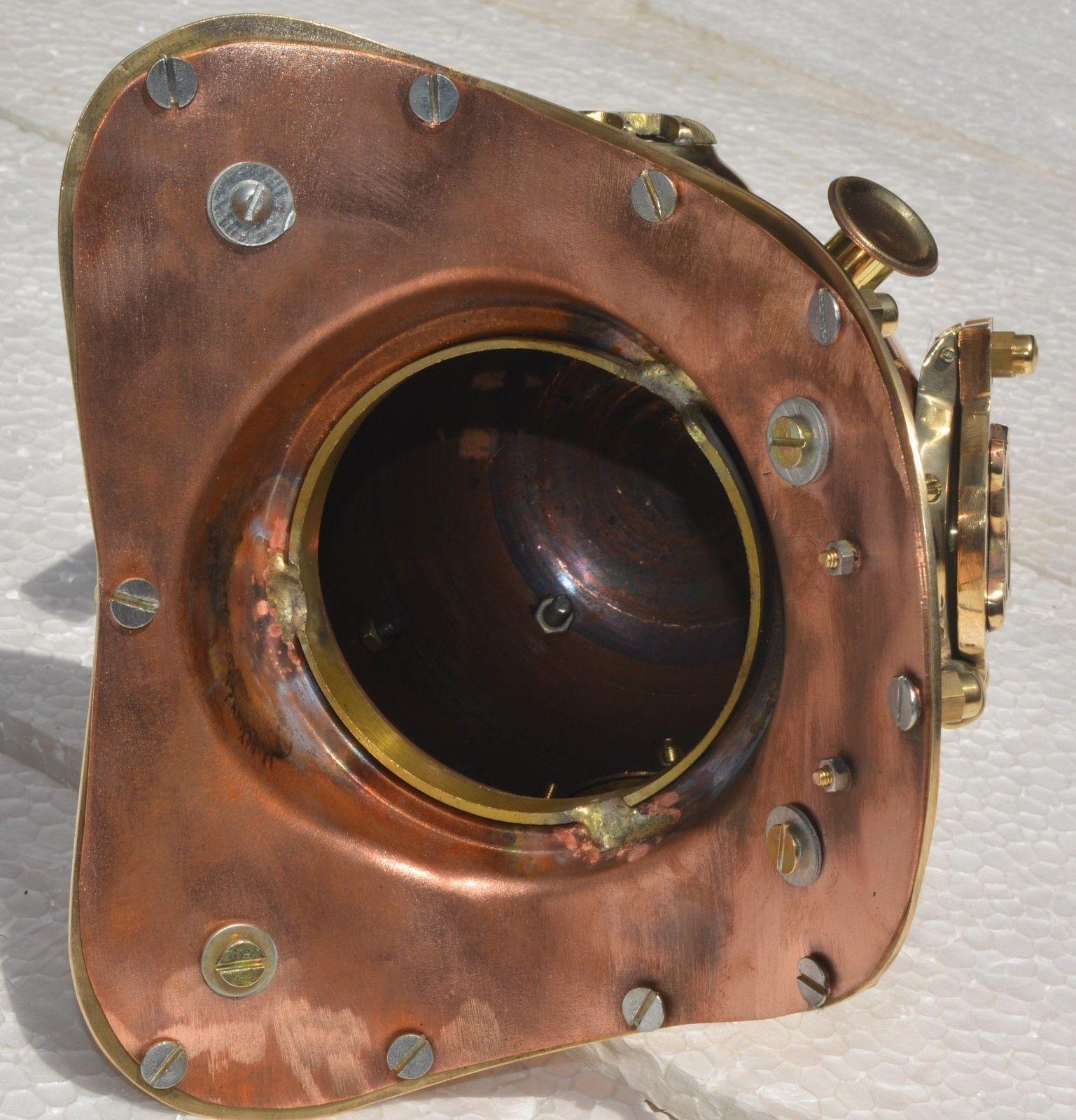 "US Navy Mark V Copper Finish Antique Diving Divers Helmet Scuba Copper & Brass"""