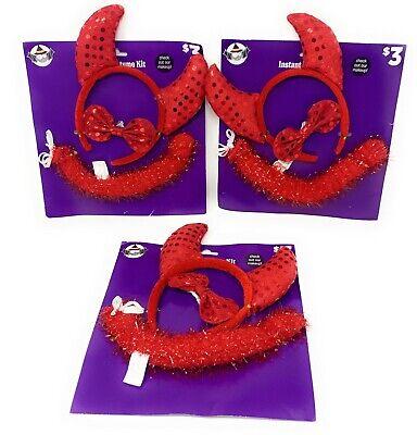 Childs Devil Halloween Costume (Halloween KIDS Instant Costume Kit - Devil Ears Horns, Bowtie, & Tail - Lot of)
