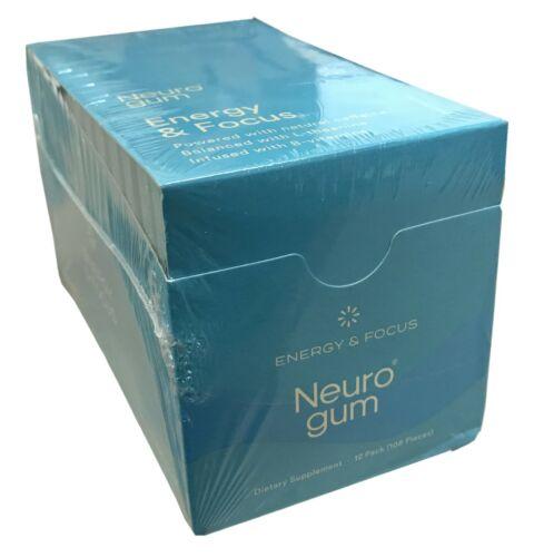 NeuroGum Energy & Focus Gum 12 Pack- Natural Caffeine + L-theanine + B-vitamins