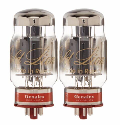 New 2x Genalex Gold Lion KT88 | Factory Matched Pair / Duet / Two Tubes