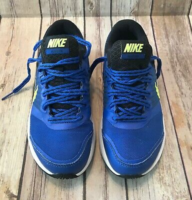 Nike Boys Youth Fusion X Running Shoes Sneakers Tennis Black Blue Neon Green 1 Y