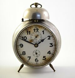Antique JUNGHANS 1930s Alarm clock Germany Vintage old desk table