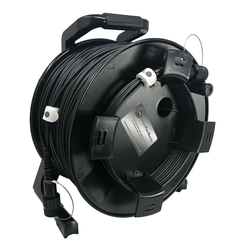 BullsEye DUO Connectors 500Ft TFSDuraTAC Tactical Fiber Cable Reel