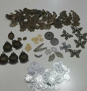 NEW - Jewellery Making - Huge Bulk Lot of Findings - 160 PIeces Calwell Tuggeranong Preview