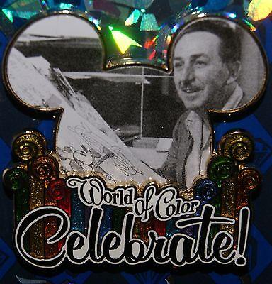 Disney 60th Anniversary Diamond Celebration World Of Color Walt Pin  New On Card