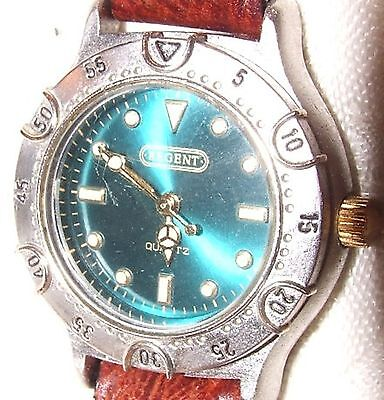 REGENT Quartz Ladies Wrist Watch Teal Green Face Singapore Movement Leather Band for sale  Shipping to India