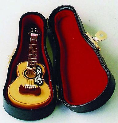 Dolls House miniature acoustic Guitar Musical Instrument Accessory 1:12