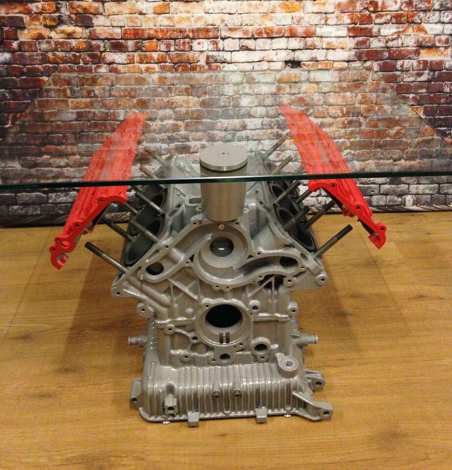 Pauls Car Art, V8 V12 motortisch motor tisch mancave