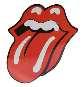 Official Rolling Stones Tongue Sticker (includes A Free Badge Of Your Choice)