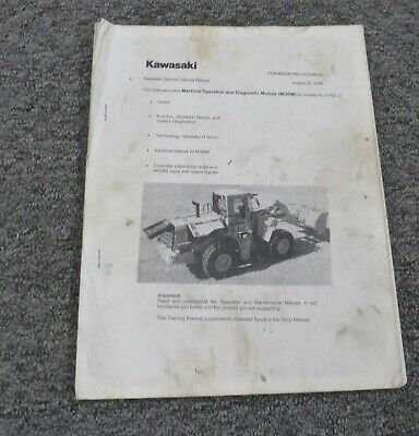 Kawasaki 95zv-2 Wheel Loader Diagnostic Troubleshooting Owner Operator Manual