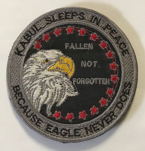 Authentic Theater CAMP EAGLE Kabul Afghanistan OEF Hookback Embroidered Patch