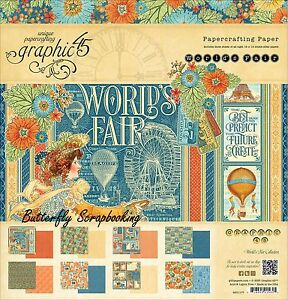 WORLD'S FAIR Collection 12X12 Scrapbooking Paper Pad Graphic 45 4501177 NEW