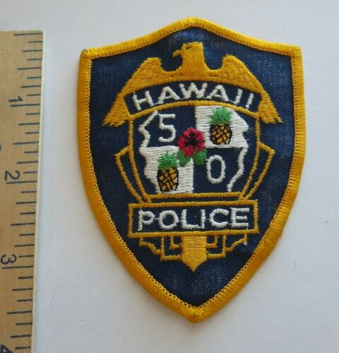 HAWAII 50 POLICE PATCH Vintage