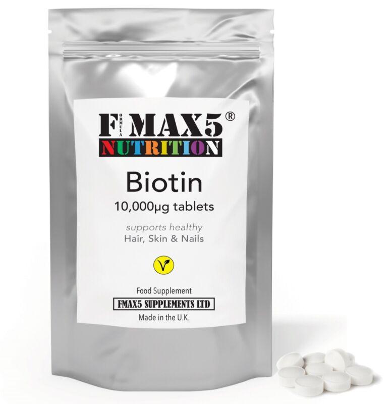 BIOTIN 120 Tablets 10,000mcg Max Strength Healthy Hair Skin Nails Growth
