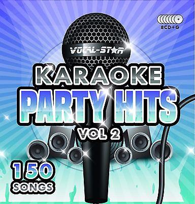 VOCAL-STAR PARTY HITS 2 KARAOKE CDG CD+G DISC SET 150 SONGS
