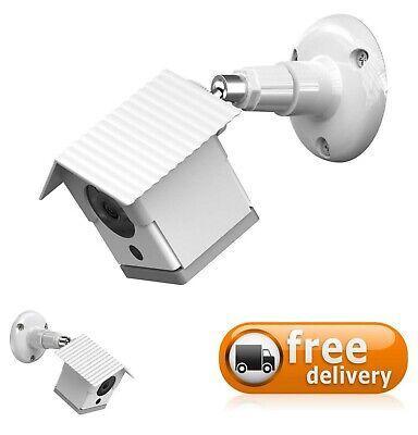 Birdhouse Spy Cam (White Wyze Cam v2 Camera Cover Weather-Resistant Birdhouse Outdoor Mounting)