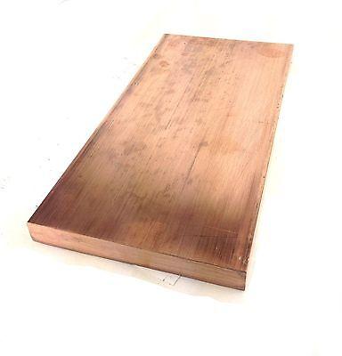 Copper Alloy 145 Tellurium Copper Blank Plate Block 14 X 4 X 6