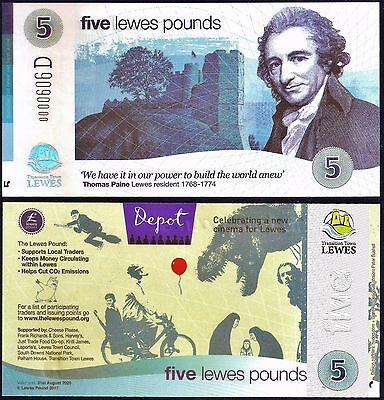 Lewes - Latest Release 19/05 New £5 LP Banknote New Cinema Series, now in Stock