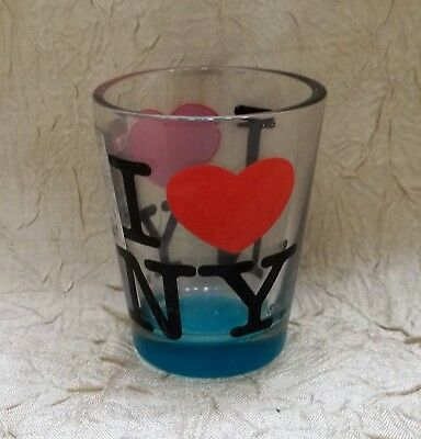 I Heart N Y Souvenir Shot Glass New York City NY Official Product with - I Heart Ny Sticker
