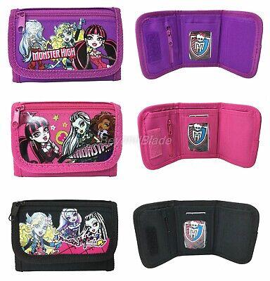 Monster High Portemonnaie 3er Set Kinder Jungen Mädchen Zeichentrick Münzbörse ()